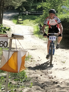 Orienteering on mountain bike